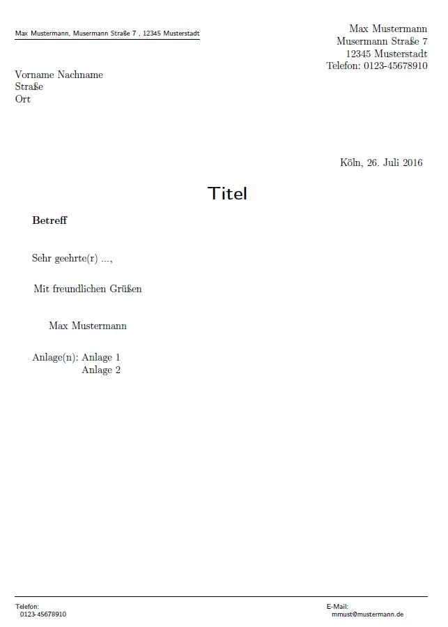 latex vorlage dissertation mathematik